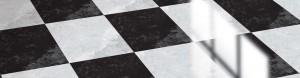 Shiny checked floor and floor polish
