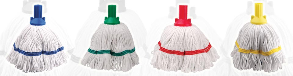 Colour coded mops help prevent cross contamination